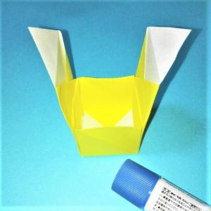 折り紙の折り方+立体ブルドーザー 運転席6-1