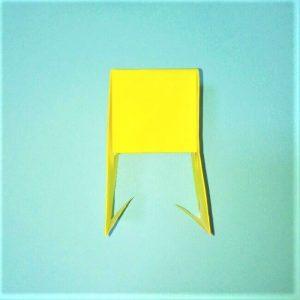 折り紙の折り方+立体ブルドーザー 運転席6-2