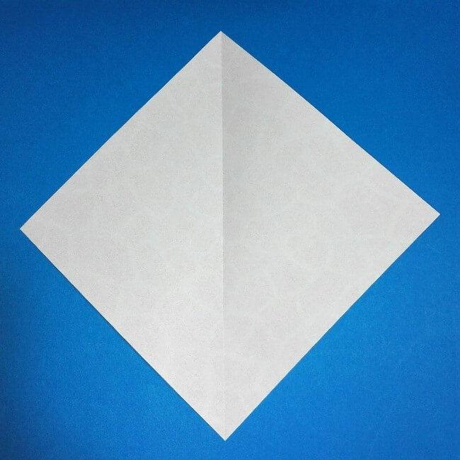 折り紙1枚「キリン」立体の折り方 1