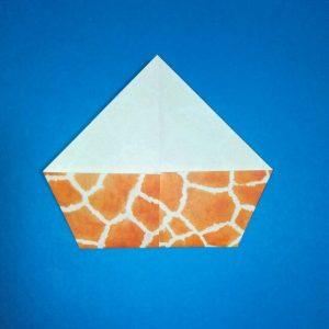 折り紙1枚「キリン」立体の折り方 4