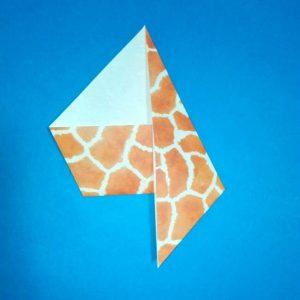 折り紙1枚「キリン」立体の折り方 5-1