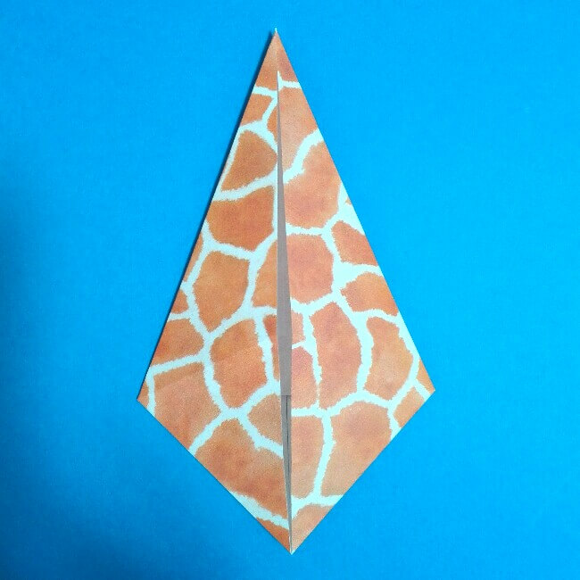 折り紙1枚「キリン」立体の折り方 5-2