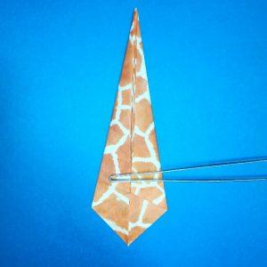 折り紙1枚「キリン」立体の折り方 7-2